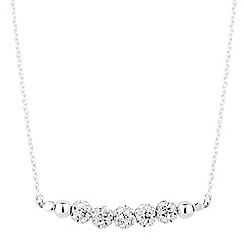 Simply Silver - Sterling silver crystal pave ball necklace