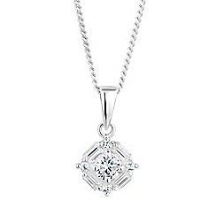 Simply Silver - Sterling silver multi cut cubic zirconia necklace