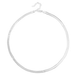 Simply Silver - Sterling silver slinky mirrored snake chain necklace
