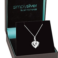 Simply Silver - Sterling silver heart locket necklace