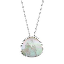 Simply Silver - Sterling silver mother of pearl necklace