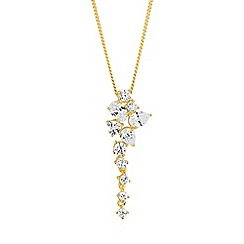 Simply Silver - Gold plated sterling silver statement necklace