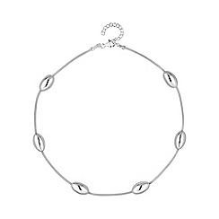 Simply Silver - Sterling silver bead station necklace