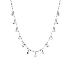 Simply Silver - Sterling silver charm cluster drop necklace