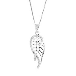 Simply Silver - Sterling silver angel wing necklace