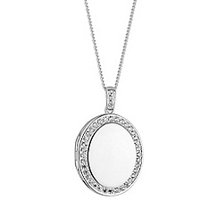 Simply Silver - Sterling silver oval locket necklace