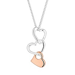 Simply Silver - Sterling silver linked heart necklace