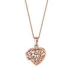 Simply Silver - Rose gold plated sterling silver heart locket