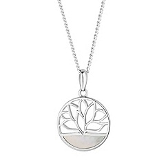 Simply Silver - Sterling silver lotus flower necklace