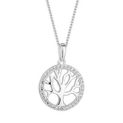 Simply Silver - Sterling silver tree of life necklace