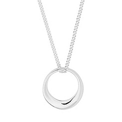 Simply Silver - Sterling silver mini organic circle necklace