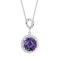 Simply Silver - Sterling silver purple clara necklace