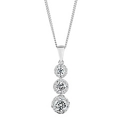 Simply Silver - Sterling silver triple drop necklace