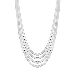 Simply Silver - Sterling silver multi chain necklace