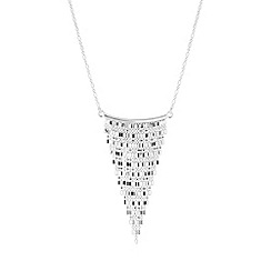 Simply Silver - Sterling silver multi strand tassel drop necklace
