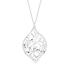 Simply Silver - Sterling silver filigree lantern necklace