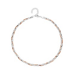 Simply Silver - Sterling silver plaited herringbone necklace