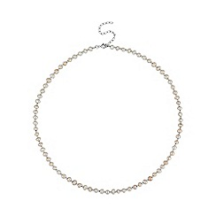 Simply Silver - Sterling silver freshwater pearl necklace