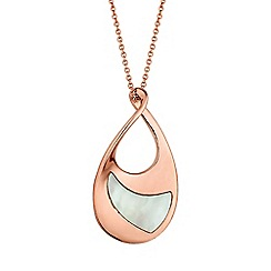 Simply Silver - Rose gold plated sterling silver twist necklace