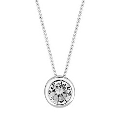 Simply Silver - Sterling silver solitaire necklace