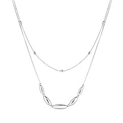 Simply Silver - Sterling silver multi row beaded necklace