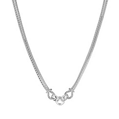Simply Silver - Sterling silver interlinked circle statement necklace