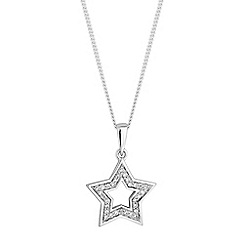 Simply Silver - Sterling silver star pendant necklace