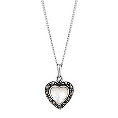 Simply Silver - Sterling silver heart necklace