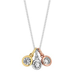 Simply Silver - Sterling silver multi tone charm necklace