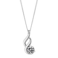 Simply Silver - Sterling silver swirl necklace