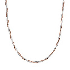 Simply Silver - Sterling silver multi tone twist necklace