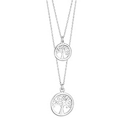 Simply Silver - Sterling silver double tree of life necklace