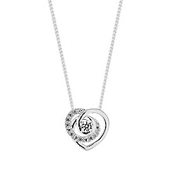 Simply Silver - Sterling silver heart twist necklace