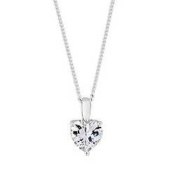 Simply Silver - Sterling silver mini heart necklace