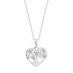 Simply Silver - Sterling silver tree of life heart necklace