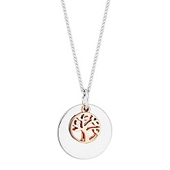 Simply Silver - Sterling silver tree of life charm necklace