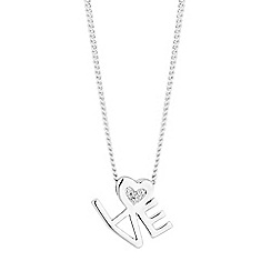 Simply Silver - Sterling silver love pendant necklace