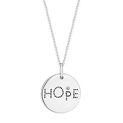 Simply Silver - Sterling silver hope disc necklace