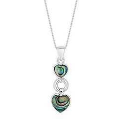 Simply Silver - Sterling silver abalone heart necklace