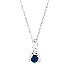 Simply Silver - Sterling silver twist drop necklace