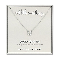 Simply Silver - Sterling silver lucky horseshoe necklace