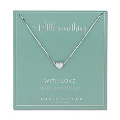 Simply Silver - Sterling silver heart charm necklace