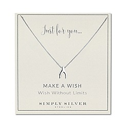 Simply Silver - Sterling silver wishbone necklace