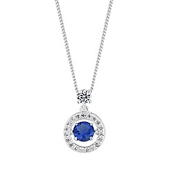 Simply Silver - Sterling silver dancing gemstone necklace