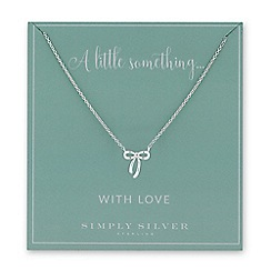Simply Silver - Sterling silver bow necklace