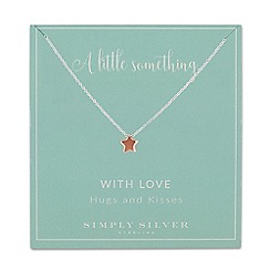 Simply Silver - Sterling silver star necklace
