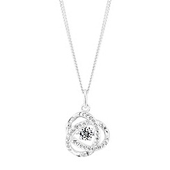 Simply Silver - Sterling silver dancing gemstone floral necklace