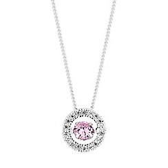 Simply Silver - Sterling silver dancing gemstone halo necklace