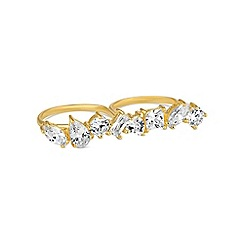 Simply Silver - Gold plated sterling silver multi cut ring