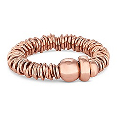 Simply Silver - Rose gold plated sterling silver multi ring stretch ring